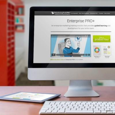 MarketingProfs Enterprise PRO+ Microsite Design
