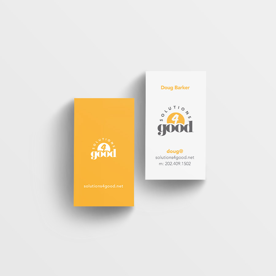 Solutions4Good business cards